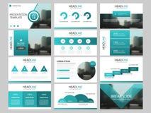 Шаблон представления элементов пачки infographic годовой отчет дела, брошюра, листовка, рогулька рекламы, иллюстрация штока