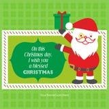 Шаблон приветствию желания веселого рождества бесплатная иллюстрация