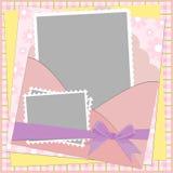 шаблон приветствиям пустой карточки иллюстрация вектора