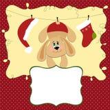 шаблон приветствиям рождества пустой карточки Стоковые Фото