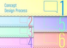 Шаблон процесса проектирования иллюстрация вектора
