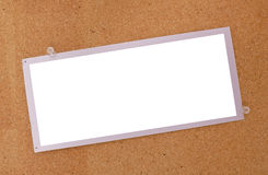 шаблон пустой карточки Стоковые Фотографии RF