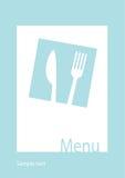 шаблон ресторана меню иллюстрация штока