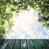 Шаблон рождества для дисплея продукта зимы Стоковое Фото