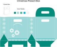 шаблон рождества коробки Стоковые Изображения