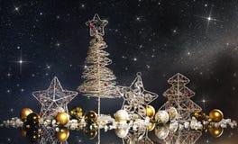 Шаблон рождественской открытки стоковые изображения rf