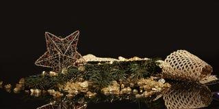 Шаблон рождественской открытки Стоковое Изображение
