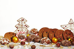 Шаблон рождественской открытки Стоковое Изображение RF