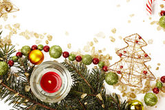 Шаблон рождественской открытки стоковое фото