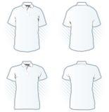 шаблон рубашки поло конструкции установленный Стоковое Изображение