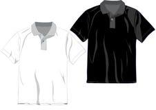 шаблон рубашки поло t конструкции Стоковое Изображение RF