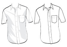 шаблон рубашки Стоковые Фото