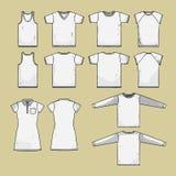 шаблон рубашки t заднего фронта Стоковые Фотографии RF