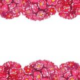 Шаблон руки акварели вычерченный романтичный цветков бесплатная иллюстрация