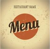 Шаблон сбора винограда карточки меню ресторана иллюстрация вектора