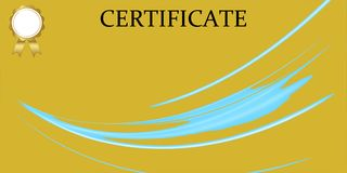 Шаблон сертификата с роскошной и современной картиной, дипломом r иллюстрация штока
