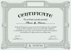 шаблон сертификата Стоковая Фотография RF