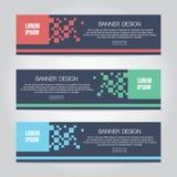 Шаблон сети знамени геометрического дизайна вектора абстрактный красочный, знамя предпосылки иллюстрация вектора