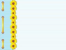 шаблон солнцецветов карточки Стоковое Фото