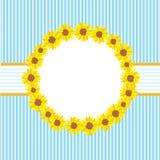 шаблон солнцецветов карточки Стоковые Фото