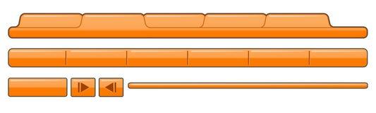 шаблон страницы навигации Стоковые Фотографии RF