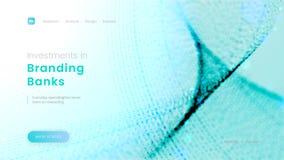 Шаблон страницы посадки с абстрактными голубыми частицами - вклады в клеймя банках, можно использовать для корпоративного бизнеса бесплатная иллюстрация
