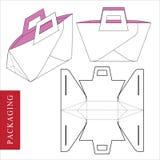 : Шаблон сумки упаковывая для носить бесплатная иллюстрация