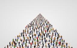 Шаблон с толпой бизнесменов стоя в линии Толпа людей иллюстрация вектора