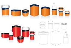 шаблон упаковки Стоковое Изображение RF