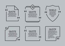 Шаблон цитаты пустой Стоковые Изображения RF