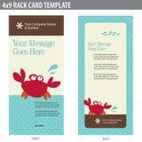 шаблон шкафа карточки broshure 4x9 Стоковые Изображения RF
