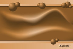 шаблон шоколада иллюстрация штока