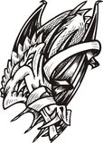 шаблон дракона Стоковая Фотография