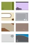 шаблон 2 визитных карточек Стоковая Фотография RF