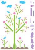 шаблон eps отрезока контакта естественный бумажный Стоковое Изображение