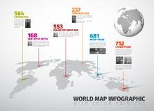 Шаблон Infographic вектора универсальный Стоковая Фотография