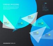 Шаблон Infographic с 5 красочными формами и значками Стоковые Фотографии RF