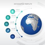 Шаблон Infographic с 5 кругами Стоковые Изображения RF