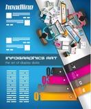 Шаблон Infographic с плоскими значками UI для ранжировки ttem Стоковое Фото