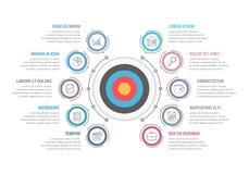 Шаблон Infographic с целью Стоковые Фотографии RF