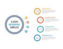 Шаблон Infographic с 4 шагами Стоковые Изображения RF