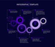 Шаблон Infographic с шестернями иллюстрация вектора