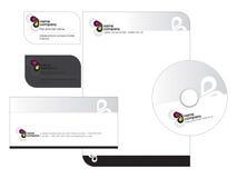 шаблон letterhead визитной карточки Стоковое Изображение