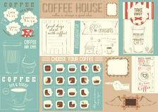 Шаблон Placemat меню кофе Стоковое Изображение RF
