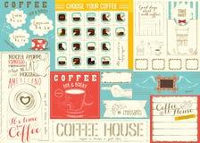 Шаблон Placemat меню кофе Стоковое фото RF