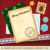 шаблон scrapbook элементов рождества бесплатная иллюстрация