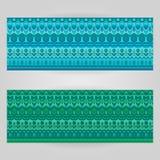 Шаблоны вектора установленные с темой ornamental искусства Стоковая Фотография RF