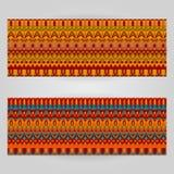 Шаблоны вектора установленные с темой ornamental искусства Стоковое Фото