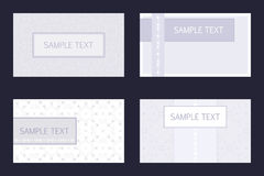 шаблоны визитной карточки установленные Стоковое фото RF