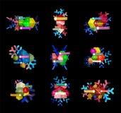 Шаблоны дела рождества infographic Стоковые Изображения RF
